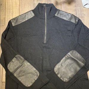MICHAEL KORS XS black Zip Up Sweater